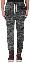 John Elliott Men's Wool-Blend Mélange Sweatpants-BLACK