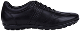 Geox Symbol City Leather Trainers, Black