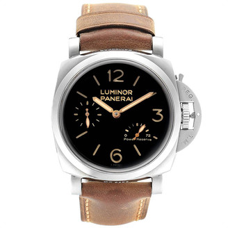 Panerai Black Stainless Steel Luminor 1950 Acciaio PAM00423 Men's Wristwatch 47 MM