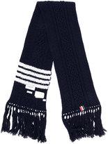 Thom Browne striped knit scarf