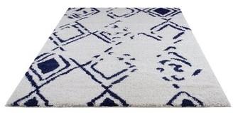"Wrought StudioTM Calderwood Geometric White Area Rug Wrought Studio Rug Size: Runner 2'7"" x 9'10"""