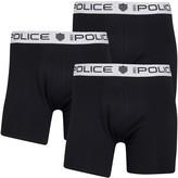 883 Police Mens Mano Three Pack Boxers Black/Black/Black