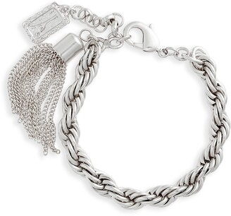 Karine Sultan Twisted Rope Chain Bracelet with Charms