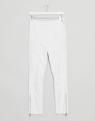 Free People Kaelin moto skinny jeans in white