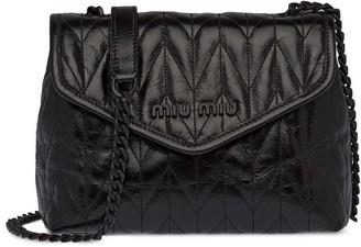 Miu Miu Envelope-Style Matelasse Shoulder Bag