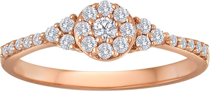 JCPenney MODERN BRIDE 1/3 CT. T.W. Diamond 10K Rose Gold Bridal Ring