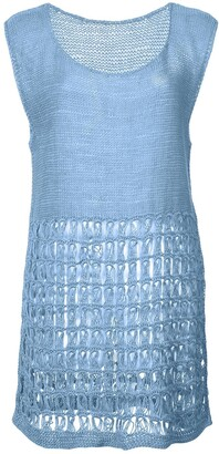 Voz Perforated Knit Tank Top