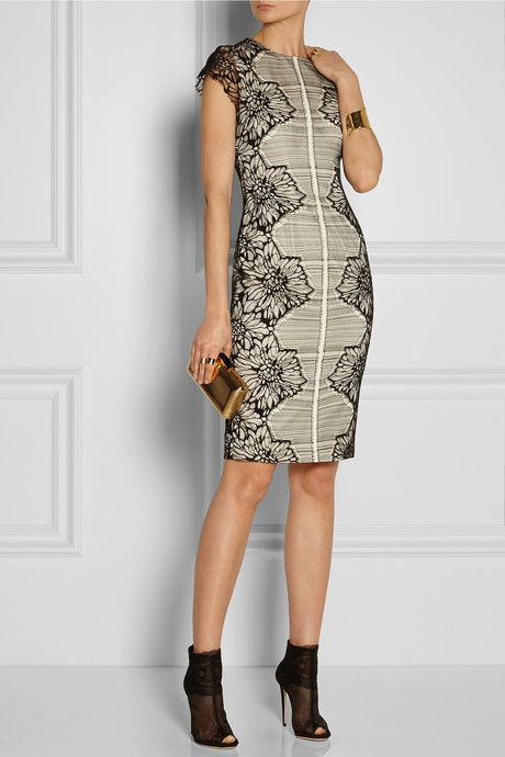 Lela Rose Lace and crepe dress