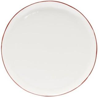 Feldspar - Painted-rim Fine China Side Plate - Red White