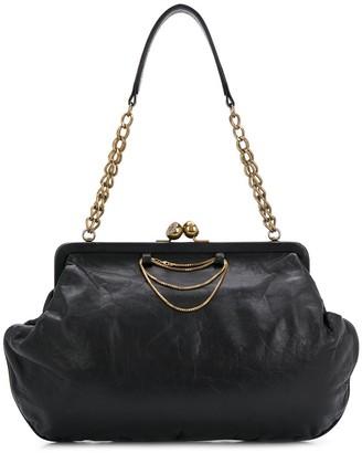 Chanel Pre Owned 2000s Chain-Embellished Shoulder Bag