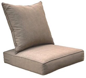 Latitude Run Outdoor Seat/Back Cushion Fabric: Tan