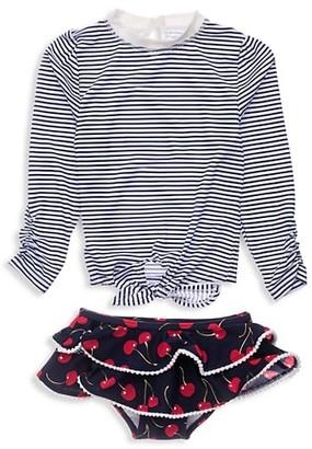 Snapper Rock Baby Girl's Ma Cheri Two-Piece Shirt & Ruffle Bottom Set