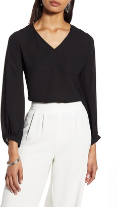 Halogen V-Neck Blouse