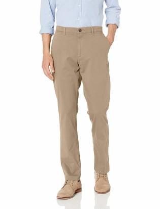 Amazon Essentials Athletic-Fit Broken-in Chino Pant Dark Khaki 33W x 30L