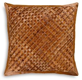 Surya Cesta Hair on Hide Burnt Throw Pillow, 20 x 20