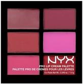 NYX Pro Lip Cream Palette The Nudes 0.31oz