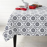 Crate & Barrel Kiran Indigo Tablecloth