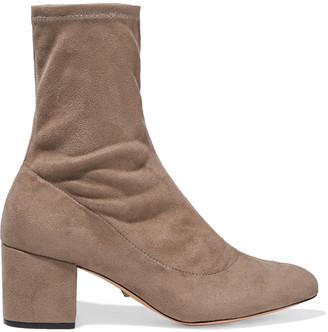 Schutz Faux Suede Sock Boots