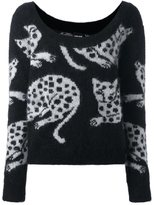 Just Cavalli 'cat' pattern pullover