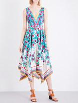 Saloni Zuri silk-crepe dress
