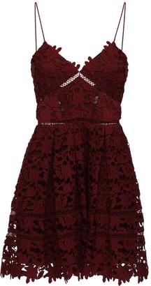 Self-Portrait Azalea Lace Mini Dress