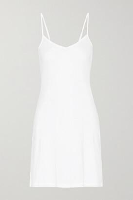Hanro Ultralight Mercerized Cotton Chemise - White