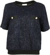 Edward Achour Paris Black-marine Metallic Shirt