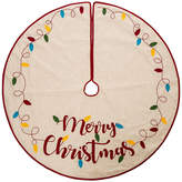 GLITZHOME Glitzhome Led Embroidered Linen Merry Christmas Tree Skirt