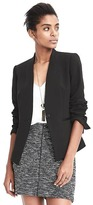 Banana Republic Collarless Tuxedo Blazer
