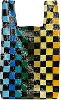 Ashish Checkerboard sequin-embellished bag