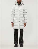 49 Winters High-neck padded shell-down coat