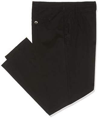 "Jacamo Men's Tapered Chino 33"" Long Trousers, (Black 001), (Size:50L)"