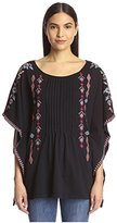 JWLA Women's Pin Tuck Poncho