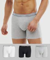 Tommy Hilfiger 3 pack boxer brief in white / dark grey / black