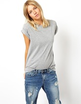 Asos Boyfriend T-Shirt with Roll Sleeve