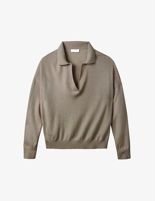 The White Company Collared wool-blend jumper