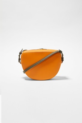 French Connection Talin Half Moon Recycled Leather Crossbody Bag
