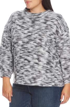 Vince Camuto Brushed Slub Bubble Sleeve Sweater