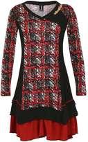 Izabel London **Izabel London Multi Red Long Dress