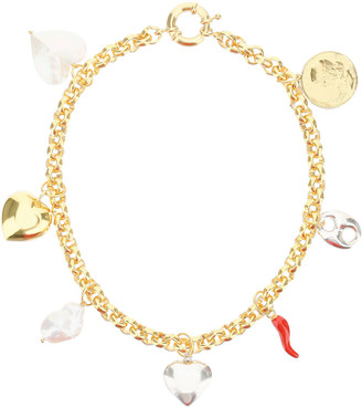 Timeless Pearly CHAIN NECKLACE WITH CHARMS OS Gold
