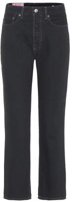 Acne Studios Bla Konst cropped straight jeans