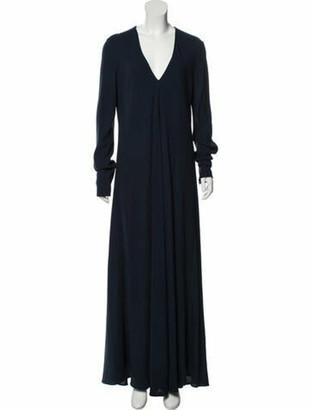 Maison Margiela Virgin Wool-Blend Maxi Dress w/ Tags Navy