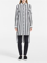 Calvin Klein Striped Roll-Up Sleeve Tunic