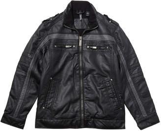 Px Clothing Faux Leather Striped Jacket, sizes 8-20