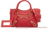 Balenciaga Metallic Edge City Mini AJ Satchel Bag, Red