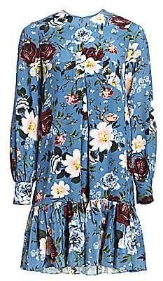 Erdem Women's Christy Floral-Print Trapeze Dress