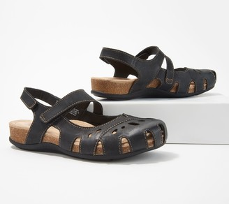 Earth Origins Leather Mary Janes with Backstrap - Bosk Benji