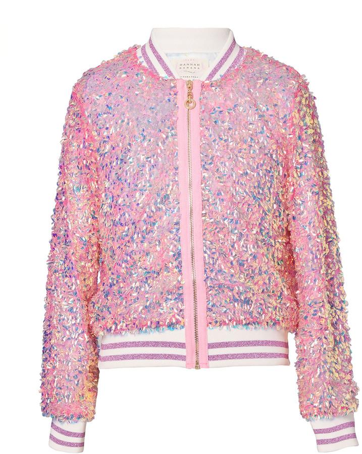 Nono Girls Sequin Bomber Jacket Sizes 4-14