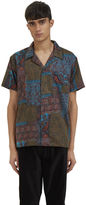 James Long Men's Paisley Short Sleeved Shirt In Green
