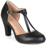 Women's Journee Collection Toni T-Strap Round Toe Mary Jane Pumps